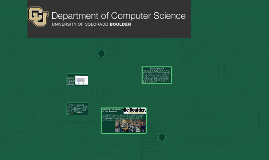 Computer Science at CU BOULDER