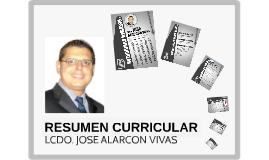 RESUMEN CURRICULAR LCDO. JOSE ALARCON VIVAS