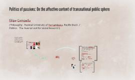 Política dos afetos: educação e instituições