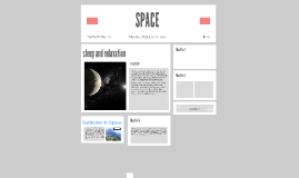 SLEEP & RELAXATION IN SPACE