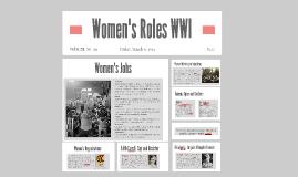 Women's Roles WWI