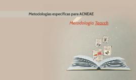 Metodologías específicas para ACNEAE