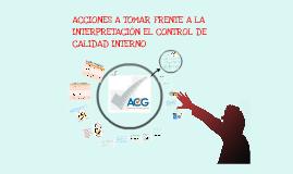 Acciones a tomar frente a la interpretacion del QC interno