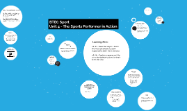 Unit 4 - The Sports Performer in Action