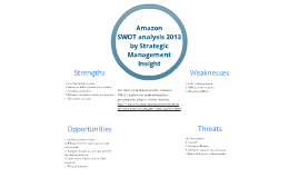 Amazon SWOT analysis 2013 by Strategic Management Inisght