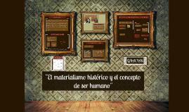 El materialismo histórico y el concepto de ser humano
