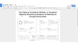The Value of Scholarly Writing: A Temporal-Material Rhetoric