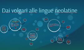 Dai vogari alle lingue neolatine