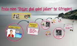 """Proża minn """"Stejjer għal qabel jidlam"""" ta' O.Friggieri"""