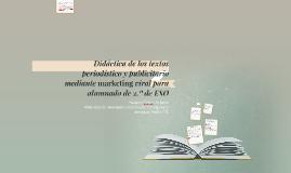 Didáctica de los textos periodístico y publicitario
