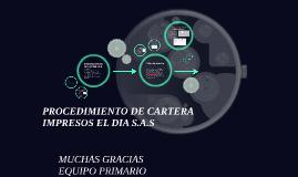 PROCEDIMIENTO DE CARTER I.E.D
