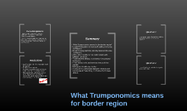What Trumponomics means for border region