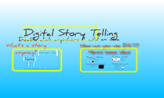 Digital Story Telling Reflection
