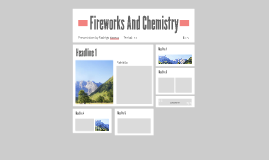 Fireworks And Chemistry
