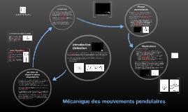TD 3 : Biomécanique des mouvements pendulaires