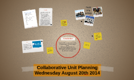 Collaborative Unit Planning