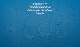 Capítulo VII: La aplicación de la dolarizacón oficial en el