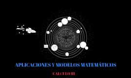 APLICACIONES MODELOS MATEMÁTICOS
