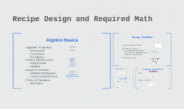 Recipe Design and Required Math