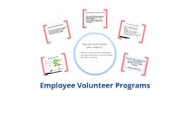 Employee Volunteer Programs