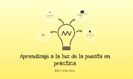Copy of Aprendizajes a la luz de la puesta en práctica