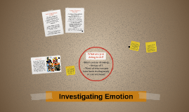 Investigating Emotions