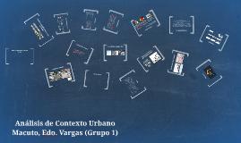 Análisis de Contexto Urbano de Macuto, Edo. Vargas