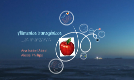 Las manzanas como un alimento transgénico