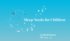 Sleep Needs for Children