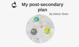 My post-secondary plan