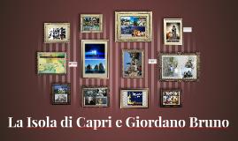 Isola di Capri e Giordano Bruno