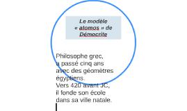 Le modèle «atomos» de Démocrite