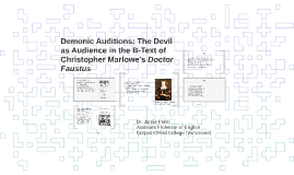 Demonic Auditions: The Devil as Audience in the B-Text of Ch