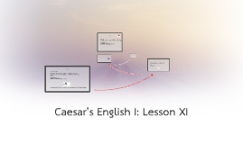 Caesar's English I: Lesson XI