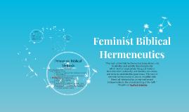 Feminist Biblical Hermeneutics
