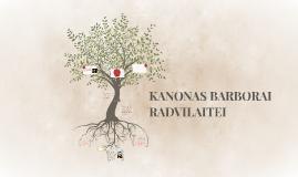 KANONAS BARBORAI RADVILAITEI