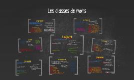 Copy of Les classes de mots