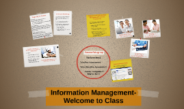 Information Management- Welcome to Class