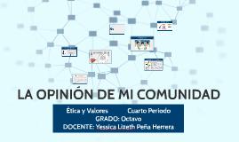 Etica 8° - IV - LA OPINION DE MI COMUNIDAD