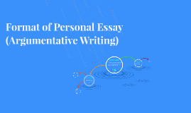 Format of Personal Essay