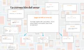 La corrección del error