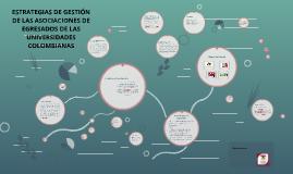 ESTRATEGIAS DE GESTION DE LAS ASOCIACIONES DE EGRESADOS DE L