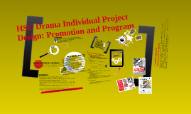 Copy of HSC Drama Individual Project Design: Promotion and Program