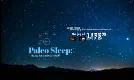 Copy of Paleo Sleep: