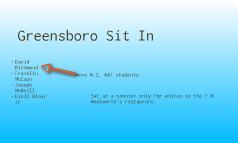 Greensboro sit in