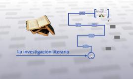 La investigación literaria
