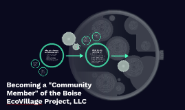 """Becoming a """"Community Member"""" of the Boise EcoVillage Projec"""