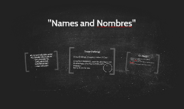 """Names and Nombres"""