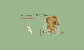 Acronyms in History /Social Studies