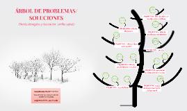 ÁRBOL DE PROBLEMAS/SOLUCIONES.